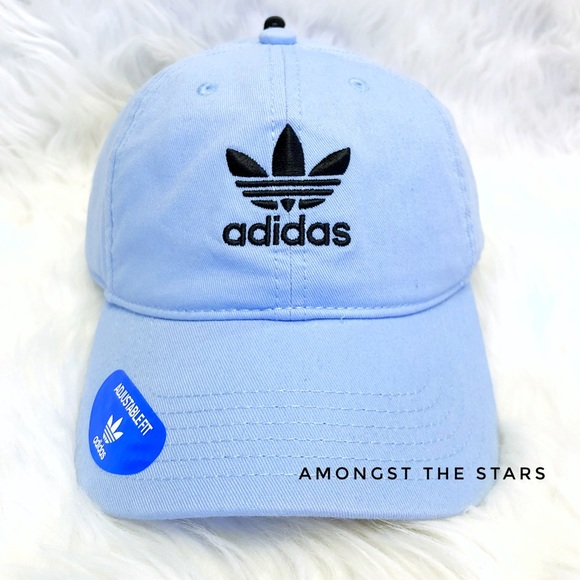 5041703a264 adidas Trefoil Baby Blue Relaxed Strapback Dad Hat